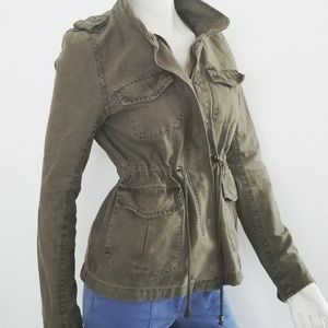 Levi womens army green utility jacket